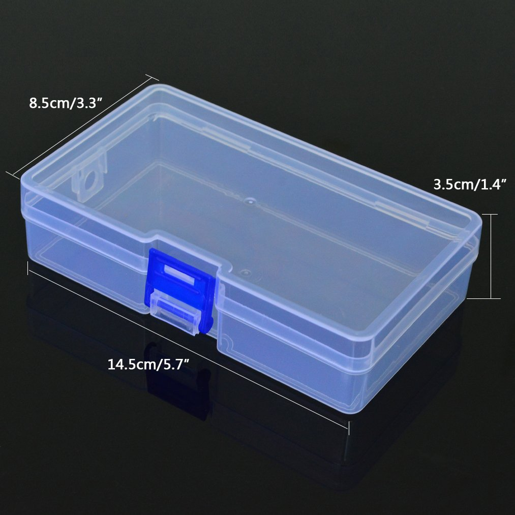 2 PCS Plastic Transparent Storage Box, baotongle Jewelry Craft Nail Art Beads Container Organizer
