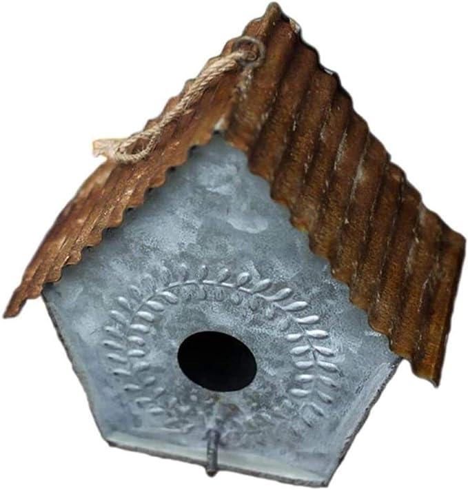 Jaula dpájaros duradera y ecológica, Transportista de viajes para pájaros jaula de pájaro retro hierro jardín de hierro decorativo alimentador de aves colgable diseño de pájaro accesorios para pájaros
