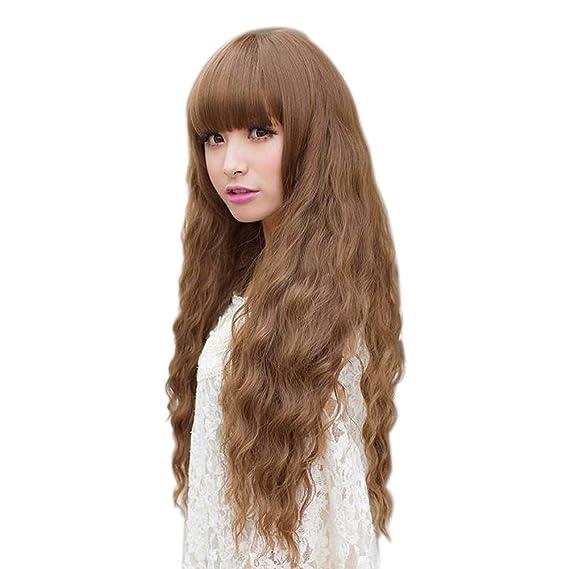 Hrph Del partido de Cosplay de la nueva manera de señora a largo ondulado Cabello pelucas