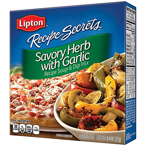 Lipton Recipe Secrets Recipe Soup & Dip Mix, Savory Herb with Garlic, 2 envelopes 2.4 oz, (Pack of 4) - Lipton Soup Mix