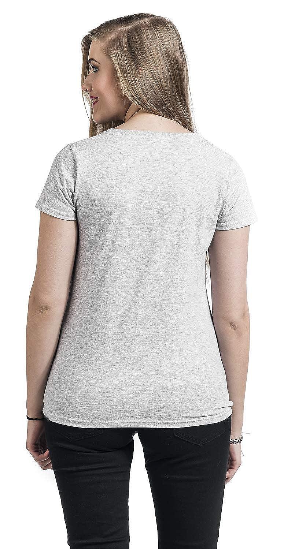 La Belle et la B/ête Disney T-Shirt Femme Tassilo Splatter Grey
