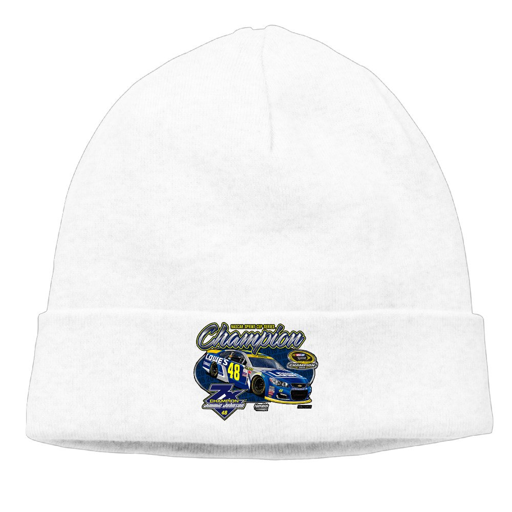 Jimmie Johnson Black 2016 Sprint Cup Champion Unisex Slouchy Baggy Caps Outdoor Beanies Hat
