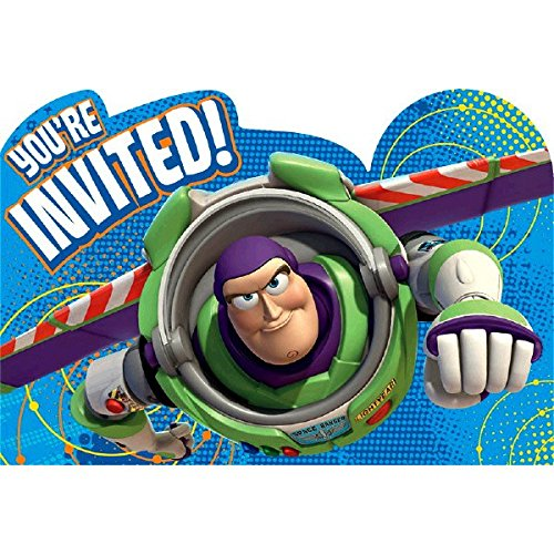 American Greetings Toy Story 3 Invite Postcards, 8 Count, Party Supplies]()