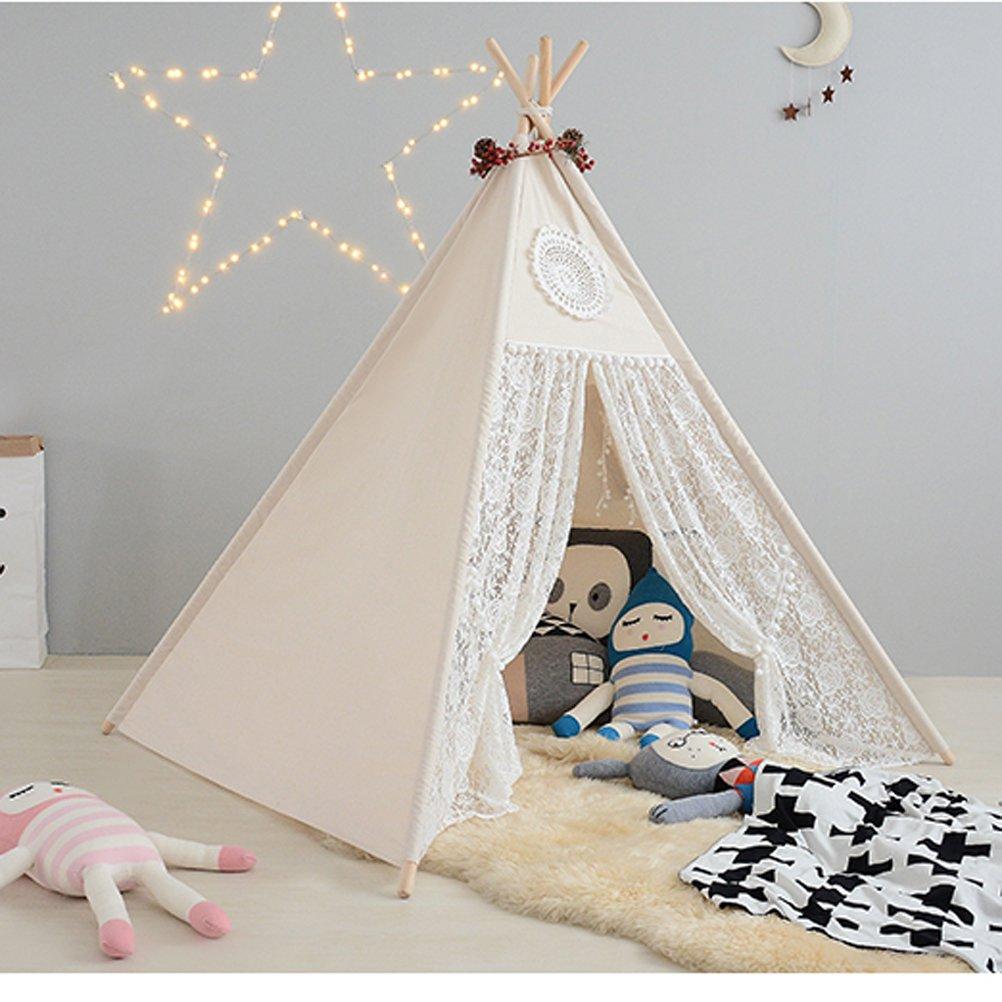自由の愛@ピュアホワイトlesiデザイン子供ゲームルーム子供ままごとキッズテントテント小屋 B01L16MA1I
