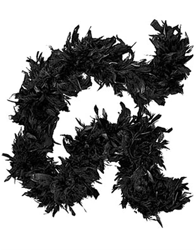 Vintage Scarf Styles -1920s to 1960s Deluxe Boa Adult Costume Accessory Black $7.04 AT vintagedancer.com