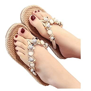 39cce53725a0c Amazon.com: Gyouanime Womens Slippers Beach Shoes Summer Flip Flops ...