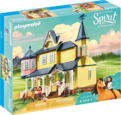 PLAYMOBIL Spirit Riding Free Lucky's House Playset, Multicolor