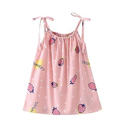 feiXIANG Vestido sin Mangas de niña bebé Vestido de Tiras con ...