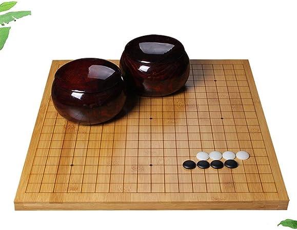 WJS Go Set , Tablero de ajedrez de Doble Cara de bambú Go Chess Set para niños Principiantes Adultos - Juego de Mesa de Estrategia Chino clásico (Size : 2cm): Amazon.es: Hogar