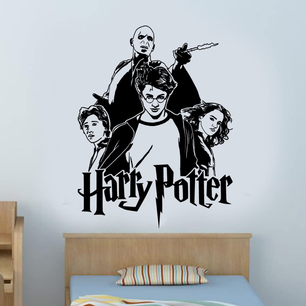 Harry Potter Hermione Granger Ron Weasley Voldemort - Adhesivo decorativo para pared para niños