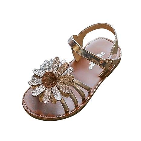 Familizo_Baby Shoes Sandalias de vestir para niña negro plata 24