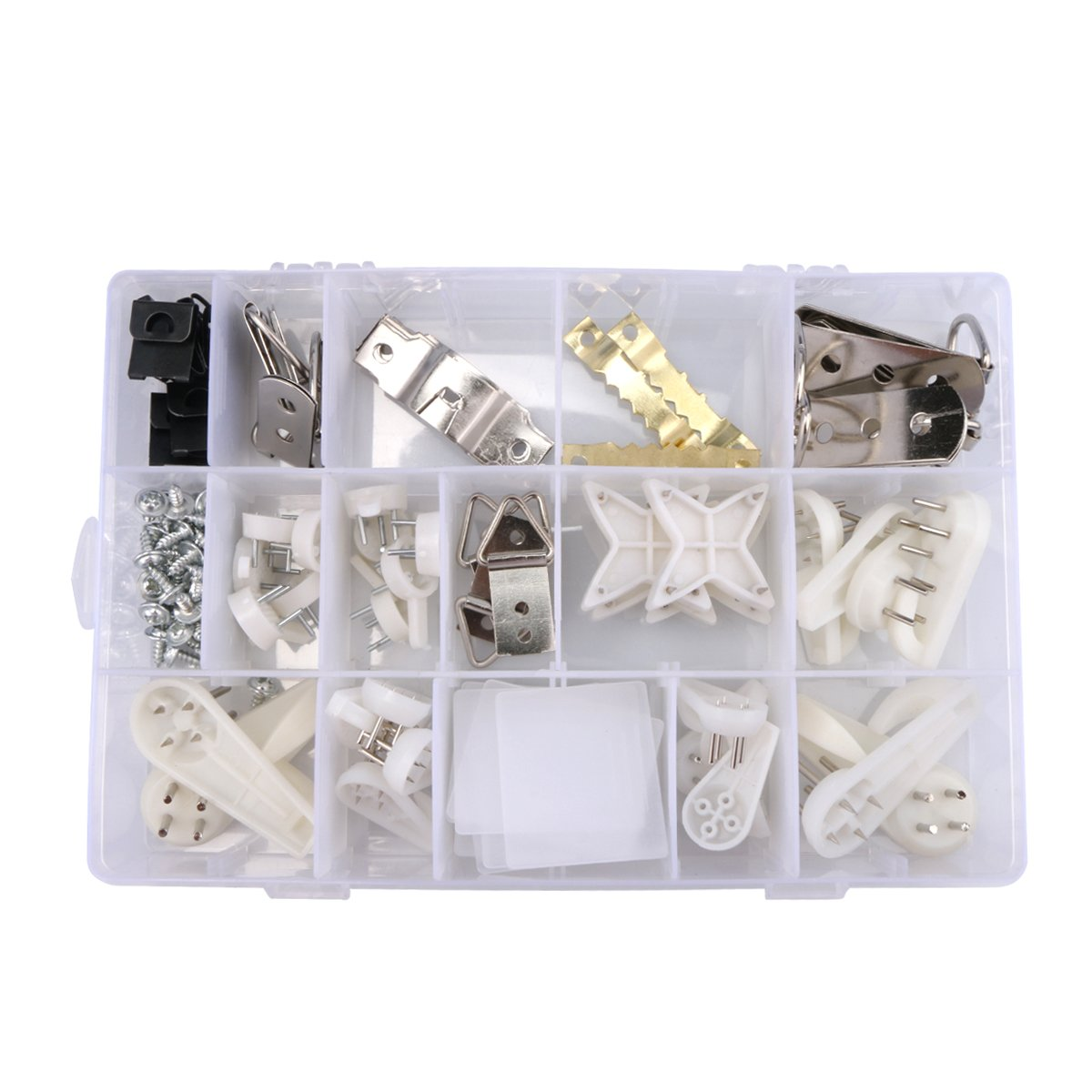 100Pcs Invisible Hardwall Drywall Picture-Hanging Hooks Clock Hanger Non-Trace Photo Frame hangers Hanging Assortment Kit