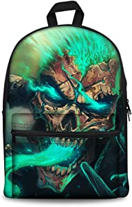 FIRST DANCE Cool Skull Print Backpacks for Kids Teenagers Boys Girls Children's School Bags Computer Laptop Backpack
