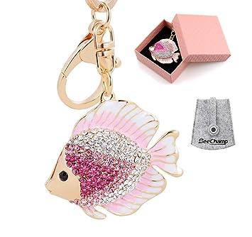 BeeChamp - Llavero de pez con Diamantes de imitación de ...