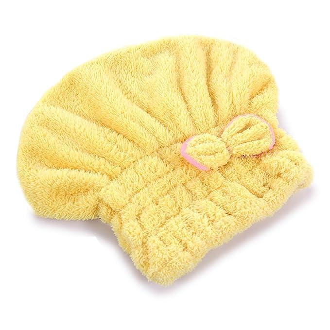 ihrkleid servilletas de baño cuidado Cabello Pritech toalla toalla baño microfibra secado rápido, microfibra, amarillo, 26 X 35 cm: Amazon.es: Hogar