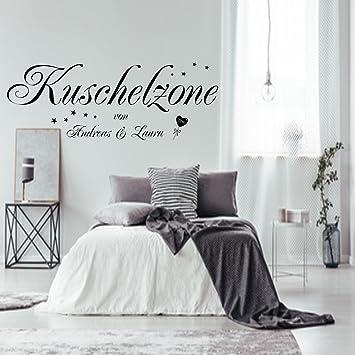 Wonderful Wandtattoo Wandaufkleber AA228 Schlafzimmer Kuschelzone Mit Zwei Namen Nach  Wunsch