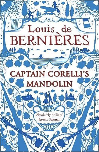 Image result for Captain Corelli's Mandolin- Louis De Bernieres.