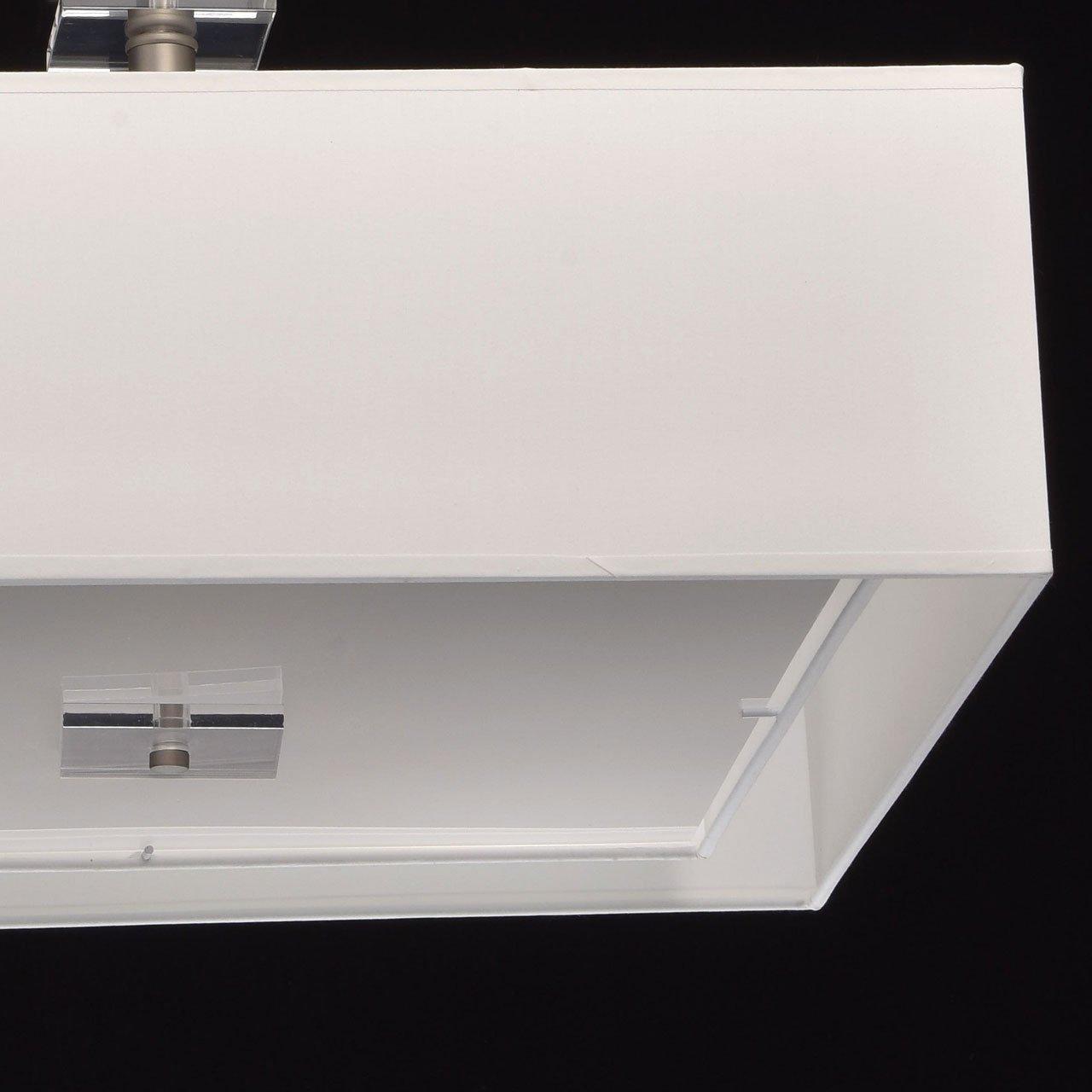 40 W paralumi in tessuto acrilico bianco 2700 K, l camera da letto escl metallo cromato 5 attacchi E14 Adatto per il soggiorno Lampadario a corona moderno 5/bracci