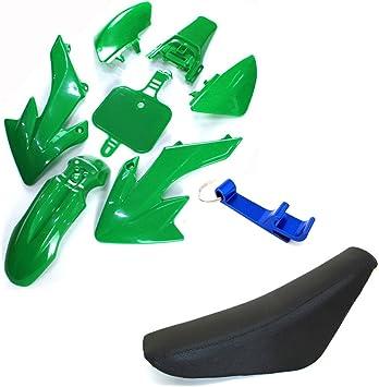 Plastic Fender Kits Tall Blue Seat For Honda XR50 CRF50 Dirt Pit Bike 50cc-160cc