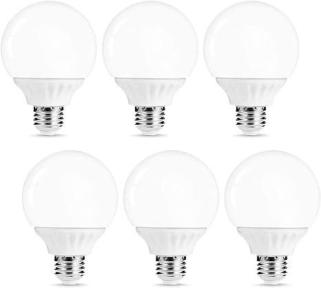 Lohas G25 Led Bulb Vanity Light Globe Bulbs 40w 50w Equivalent Led Makeup Mirror Lights Soft