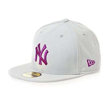 74cff3f7c60 ... buy new york ny yankees mlb grey seasonal contrast new era 59fifty  fitted baseball cap size