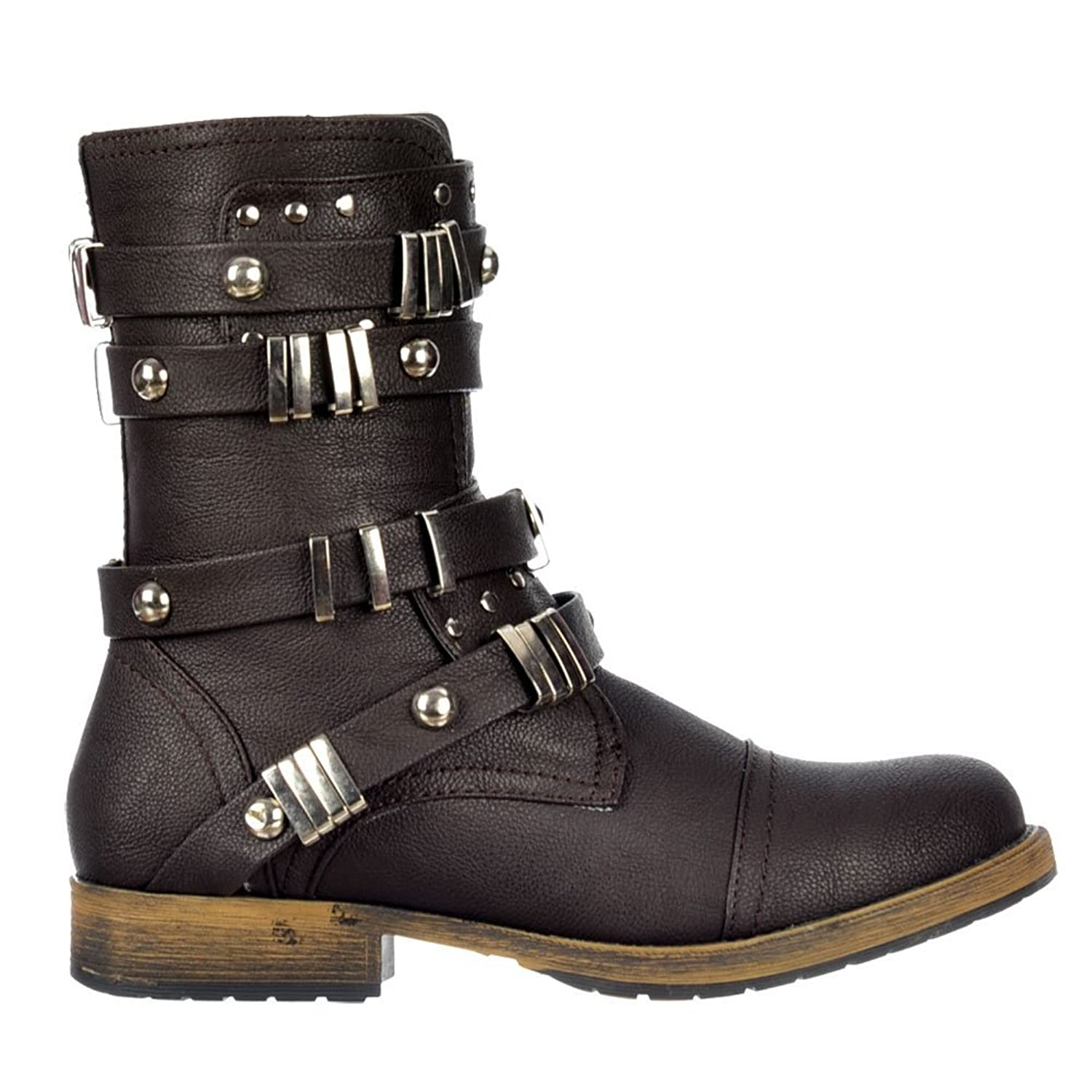 Dolcis Women's Military Ankle Biker Boot