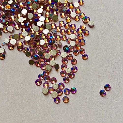 - Light Colorado topaz AB 5mm Loose Flat Back Rhinestone Packs/ Swarovski Shine Rhinestones Glue on Crystal SS20/1440Pcs