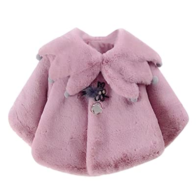 6-24 Months Odeer Baby Infant Grapes Autumn Winter Coat Cloak Jacket Thick Warm Clothes