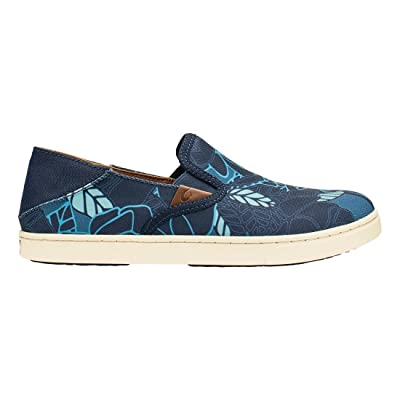 Olukai Pehuea Print Trench Blue/Stormy Blue Womens Slip-On Size | Loafers & Slip-Ons