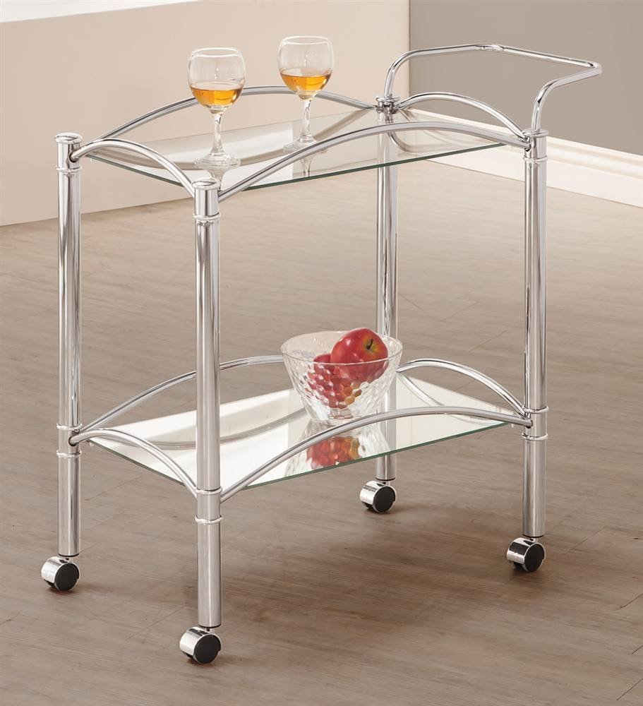 Total Fab: Glass & Mirrored Bar Carts
