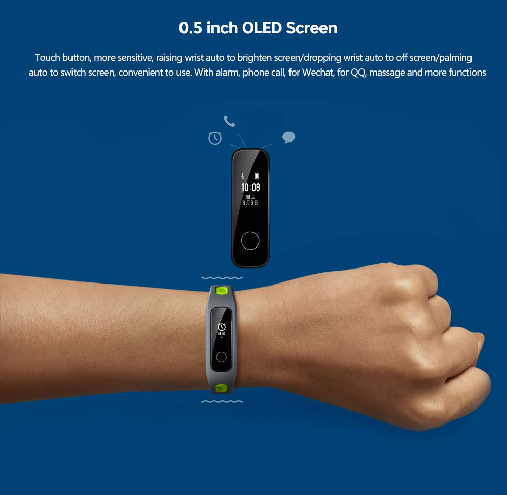 Huawei Honor Band 4 Running Edition All-in-One Activity Tracker Smart Fitness Wristband GPS Multi-Sport Mode 5ATM Waterproof Anti-Lost Running Edition