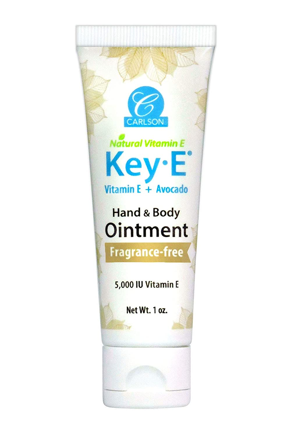 Carlson - Key-E Hand and Body Ointment, For Dry & Rough Skin, Avocado + Coconut Oil + Beeswax + vitamin E, Unscented (4 oz)