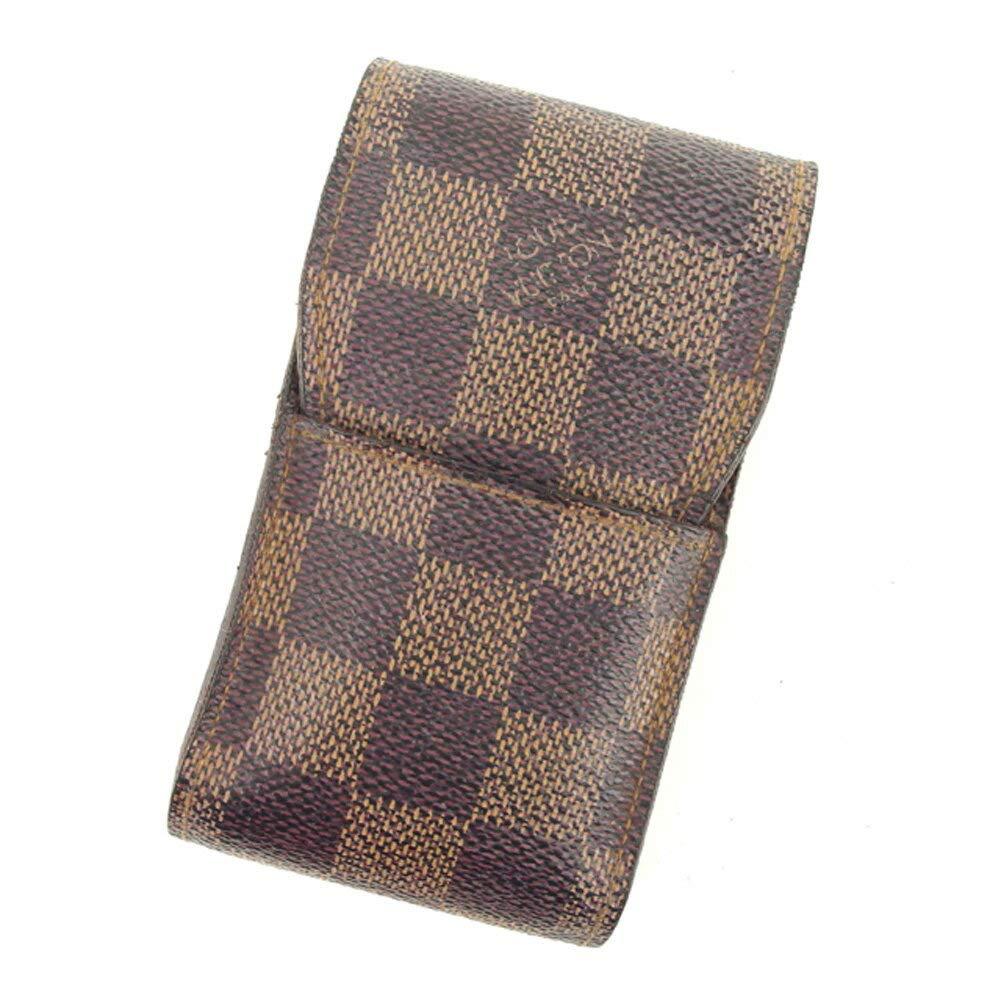 (ルイ ヴィトン) Louis Vuitton シガレットケース タバコケース ブラウン ベージュ エテュイシガレット ダミエ レディース メンズ 中古 F1391   B07JDBFC6S