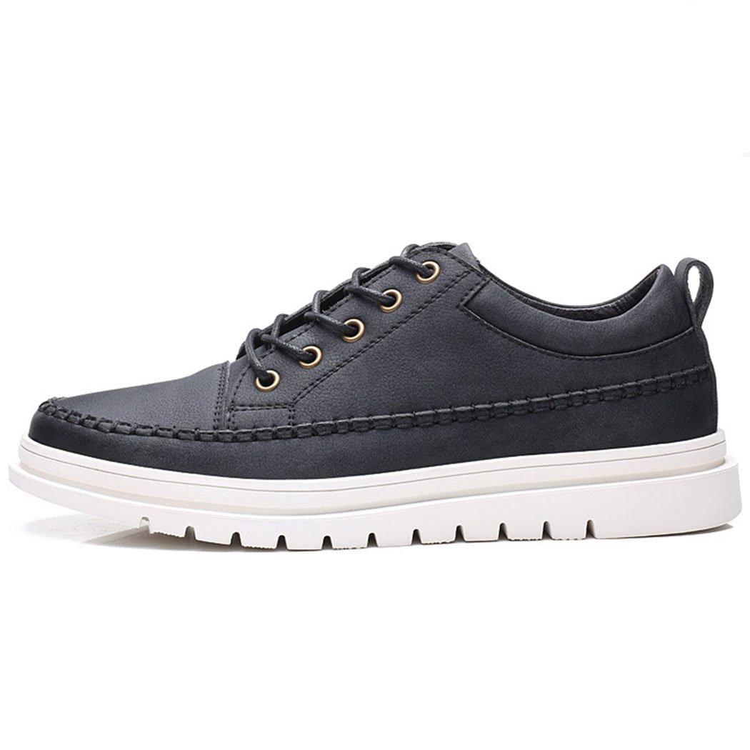 GAOLIXIA Herren Herren Herren Casual Lederschuhe Fashion Lace-up Driving Schuhe Jugend Skate Schuhe Business Schuhe Werkzeug Schuhe Schwarz Grau 5140cf