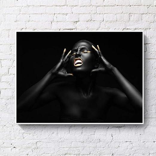 geschmackvolle schwarze nackte
