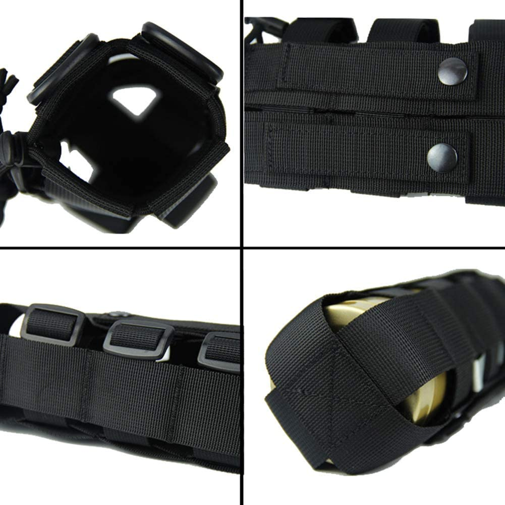 Outdoor Tactical Water Bottle Bag Military Hiking Belts Holder Kettle New P S7K1