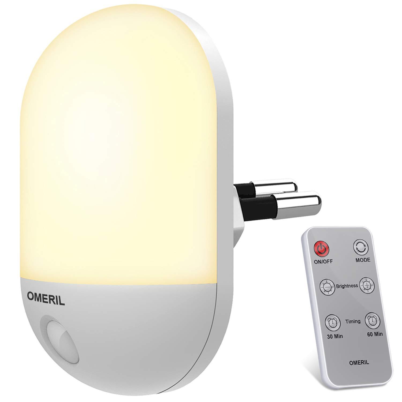 OMERIL Luz nocturna con control remoto y varias tonalidades