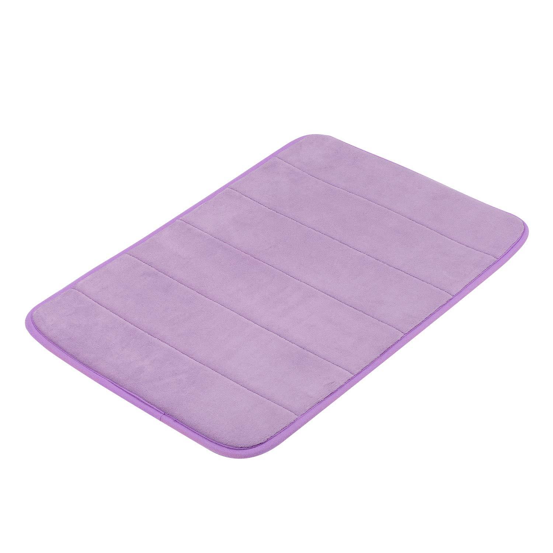 GRAND ERA Memory Foam Bath Mat Non Slip Absorbent Super Soft Velvet Microfiber Plush Shower Bathroom Rug Carpet, 16 x 24, Pink 16 x 24 KYEPK4060