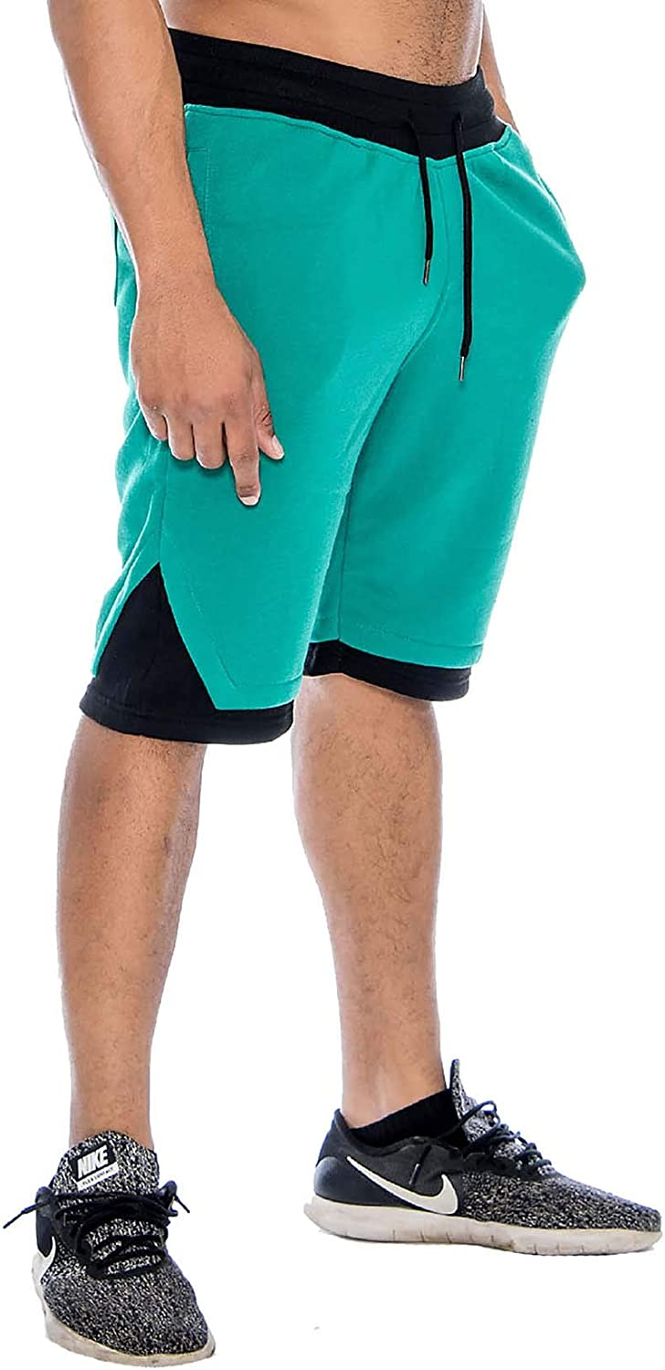 9 Crowns Mens Casual Gym Basketball Sweat Shorts
