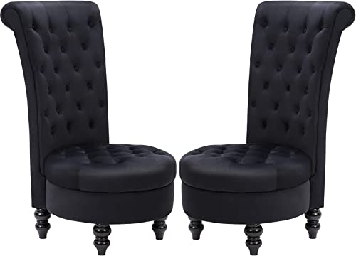 ECOTOUGE Retro High Back Armless Chair