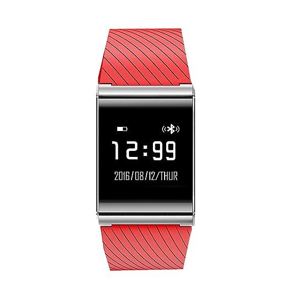 Fitness Rastreador Electrónico Reloj Cuadrado actividad Podómetro Reloj inteligente deporte LED Digital reloj, 0.31 pounds, color rosso: Amazon.es: Relojes