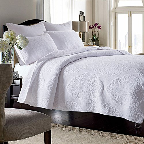 King Size Vintage Bed - Brandream White Vintage Paisley Comforter Set King Size Bed Quilt Set 100% Cotton