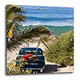 Cheap 3dRose dpp_53871_1 Classic Woody with Surfboards on a Tropical Island Beach Wall Clock, 10 by 10-Inch