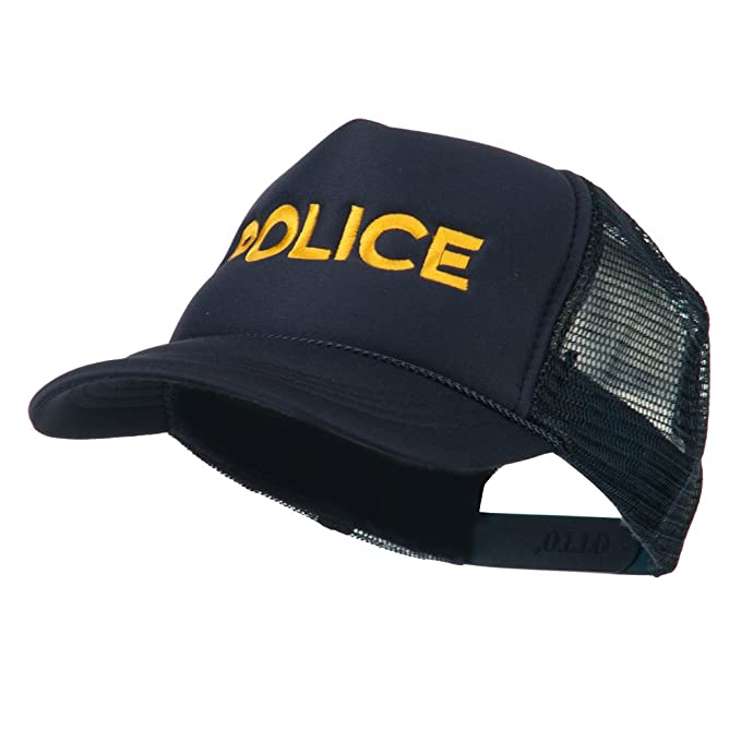 Amazon.com  E4hats Youth Police Embroidered Foam Mesh Back Cap ... d3cc3eec8f3d