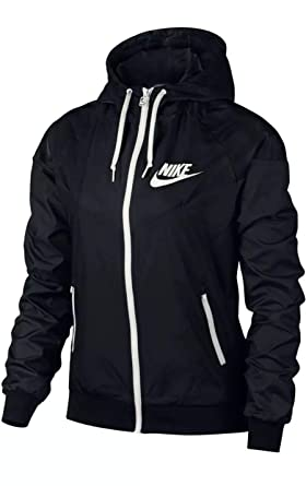 fc61f2cfcab3 Amazon.com  Nike Women s Sportswear Windrunner Full Zip Jacket Black ...