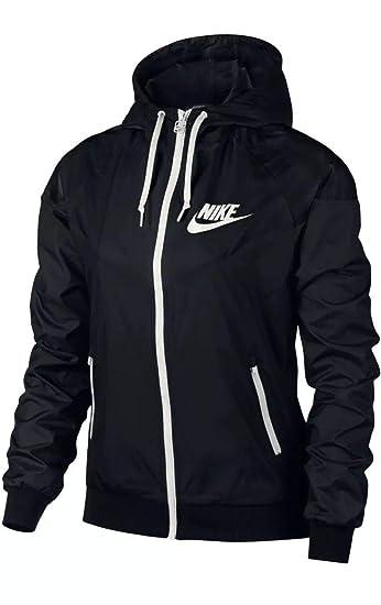 Amazon.com  Nike Women s Sportswear Windrunner Full Zip Jacket Black ... c35e407b7