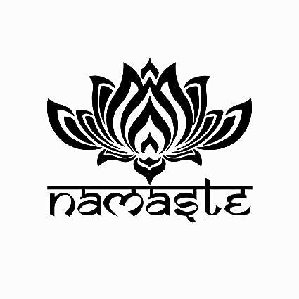 Amazoncom Namaste Wall Decal Lotus Flower Vinyl Sticker Decals