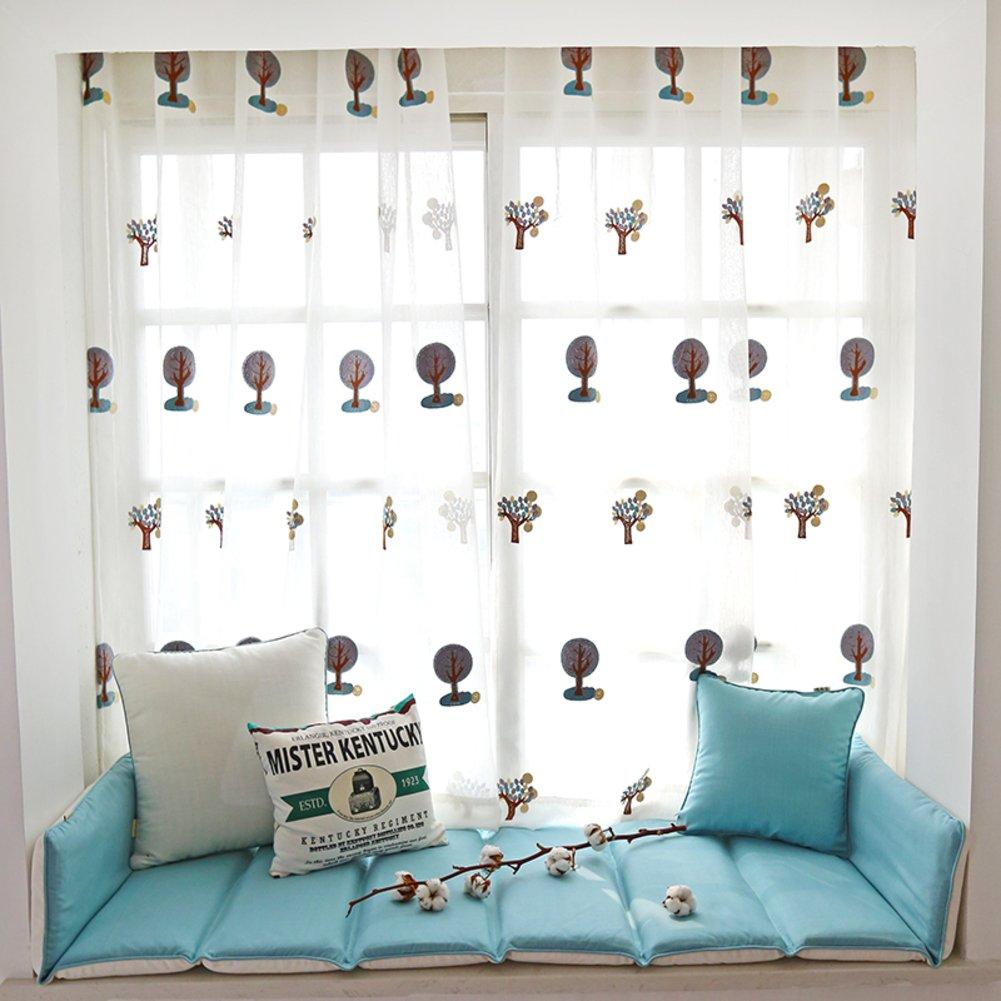 Bay window cushion cover seats pad,Window sill cushion non-Slip mat sponge fashion-A 70x192cm(28x76inch)