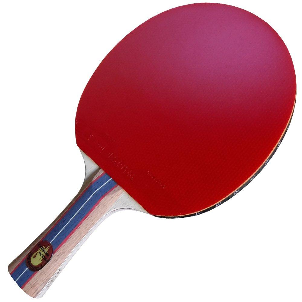 カスタムGamblerプロフェッショナルTable Tennis Paddle with ThermoPolyカーボンブレードとWraithゴムPlusブルーケース B01K2S2QSI