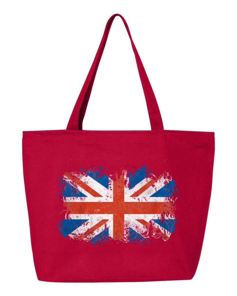shop4everユニオンジャックイギリス国旗Heavy Canvas Tote with Zipper United Kingdom Flag再利用可能なショッピングバッグ12 oz Zip 25 oz レッド WSE_1215_UnionJack_TB_Q611_Red_1 B06XPV2C17 レッド, ハイディーズ デイリーウェアー 62ccd2ff